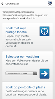 Screenshot of Volkswagen Service app