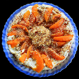 Home Made Almond Peach Cake by Phil Le Cren - Food & Drink Cooking & Baking ( almond peach cake, cake, cooking, baking )