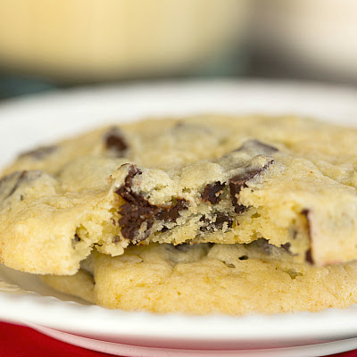 Dark Chocolate Chunk Eggnog Cookies