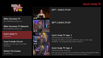 Screenshot of Bible Discovery TV