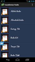 Screenshot of Kazakhstan Radio