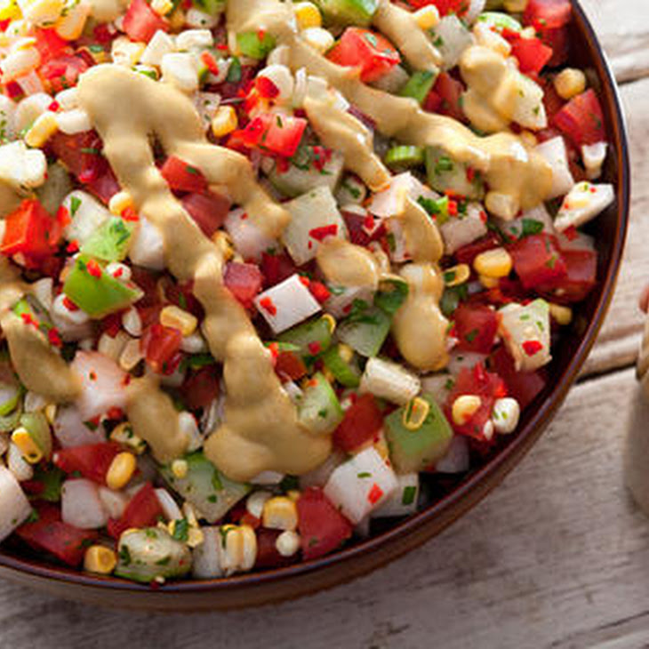 Charred Corn And Avocado Salad With Lime, Chili And Tomato Recipe ...