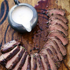 Grilled Venison Loin with Horseradish Cream Sauce Recipe