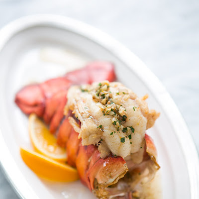Broiled Lobster Tail with Browned Butter Sauce
