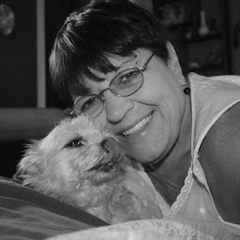 me and my mia by Robin Hennon - Animals - Dogs Portraits (  )