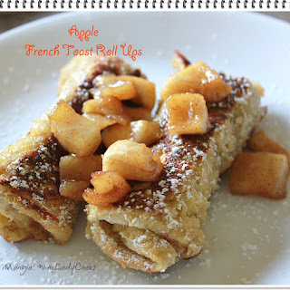 Apple French Toast Roll Ups