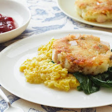 Bubble and Squeak with Corn Puree
