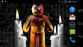 Screenshot of Voodoo Doll Live Wallpaper