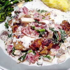 Hazelnut Chicken in Prosciutto-Cream Sauce