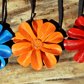 Leather Necklaces by Leon Neal - Artistic Objects Clothing & Accessories