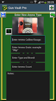 Screenshot of Gun Vault Pro