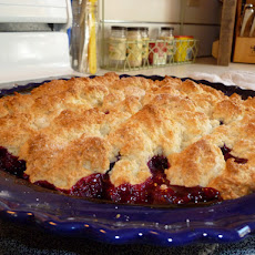 Scone Topped Blackberry Cobbler