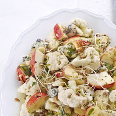 Crunchy Cauliflower, Apple & Blue Cheese Salad