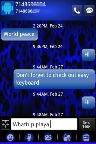 The Blues HD Go Sms Pro Theme