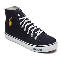 Ralph Lauren Canvas High Top HIGH TOP TRAINER