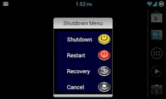 Screenshot of Shutdown Menu (ROOT)