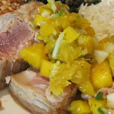Grilled Tuna Steaks With Mango Salsa
