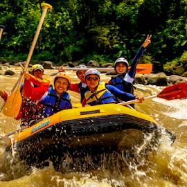 Rafting ! by OC Andoko - Sports & Fitness Watersports ( watersport, adventure, fun, rafting, jogja, river )