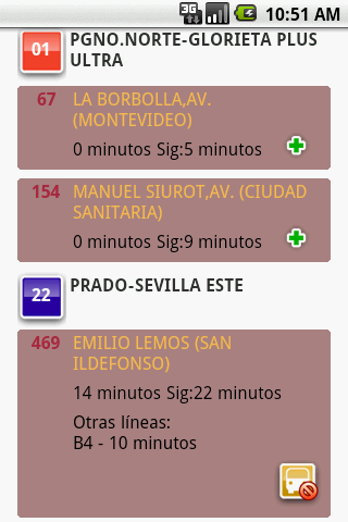 infobus-sevilla for android screenshot