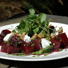 Roast Beetroot, Goat Cheese & Walnut Salad