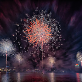 Riga 813 by Alex Shanti - News & Events Entertainment ( riga, night photography, firework, fireworks, long exposure, night )