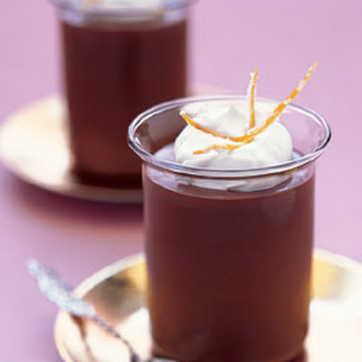 Chocolate-Orange Pots de Crème with Candied Orange Peel