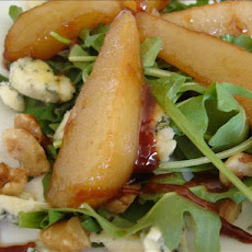 Caramelised Pear and Rocket (Arugula) Salad With Blue Cheese