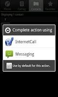 Screenshot of Phone2Phone Internet Calling