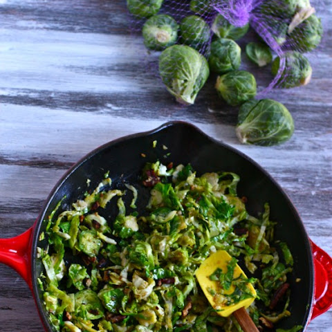Caramelized Brussel Sprouts with Rosemary & Garlic