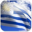 3D Uruguay Flag + icon