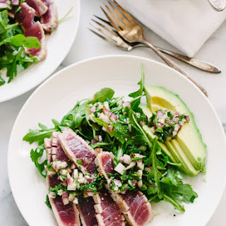 Seared Ahi Tuna with Chimichurri Sauce