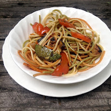 Asian Pasta with Sauteed Vegetables