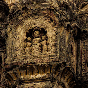 Sculpture on Sanghameshwar Temple by Rohan Pavgi - Buildings & Architecture Places of Worship ( canon, temple, sculptures, hindu, ancient, maharastra, india, travel, archeology, architecture, historic, exploration,  )