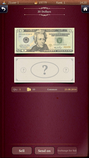 Banknotes Collector - screenshot