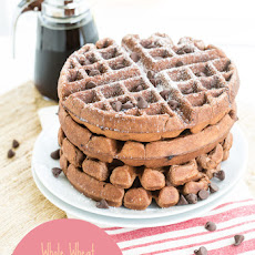 Whole Wheat Chocolate Banana Waffles