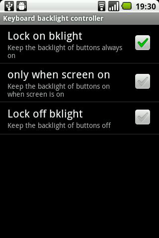 Keyboard backlight controller