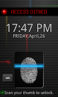 Screenshot of Fingerprint Lock