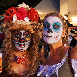 Wurstfest Cuties by Scott Walker - People Body Art/Tattoos ( fantasy, beer, texas, wurstfest, day of the dead )