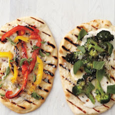 Grilled Broccoli Flatbread Pizzas