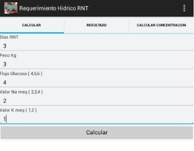 Requerimiento Hidrico RNT - screenshot