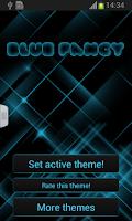 Screenshot of Blue Fancy GO Keyboard