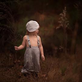 Little Rascal 2 by Amber Bullock Owens - Babies & Children Child Portraits ( child, vintage, albphotography, grey, nikon, woods )