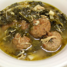 Simple Crock Pot Italian Wedding Soup with Kale