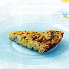 Corn, Scallion, and Potato Frittata