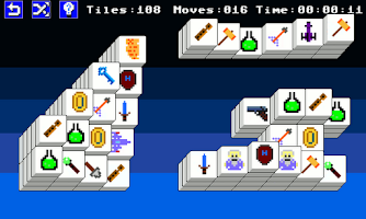 Screenshot of 8 Bit Mahjong