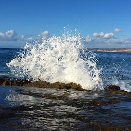 Wave solash  by Veronica Lehmann - Landscapes Beaches