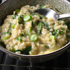 Brown Rice and Gai Lan Jook (Rice Porridge)