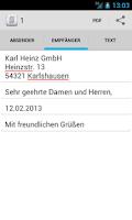 Screenshot of Brief schreiben - Tex10
