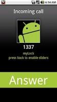 Screenshot of myLock droid phone tools -BETA