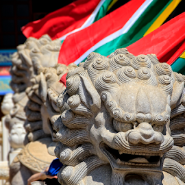Cultures by Mari du Preez - Buildings & Architecture Statues & Monuments ( statue, flags, statues, stone, chinese new year )